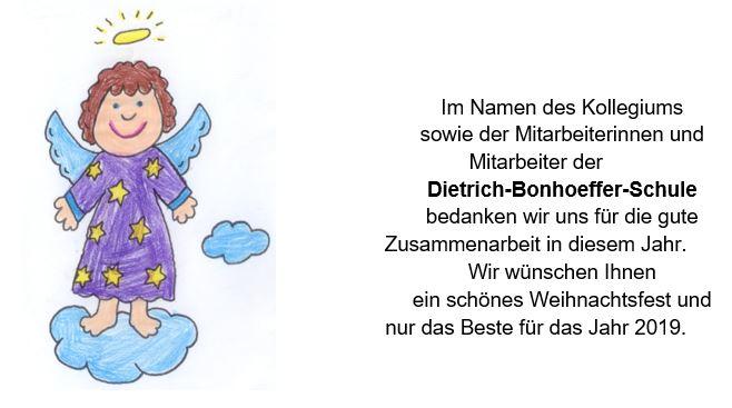 Weihnachtsgrüße Grundschule.Weihnachtsgruß Der Dietrich Bonhoeffer Grundschule Reiterverein